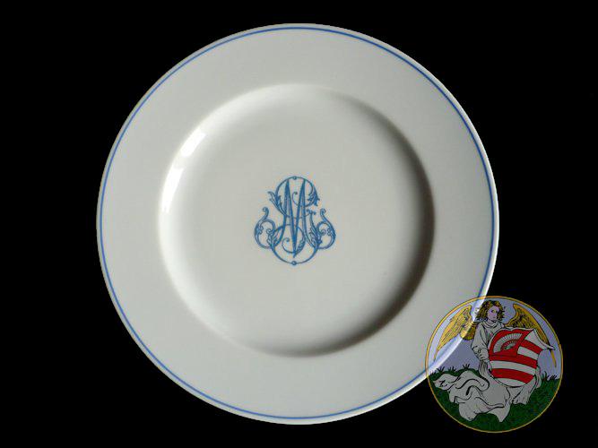 assiette monogramme