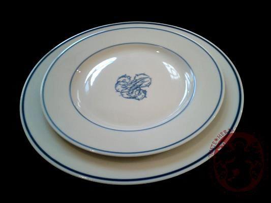 monogramme sur porcelaine